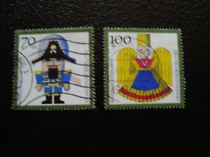 Germany-Rfa-Stamp-Yvert-and-Tellier-N-1318-1319-Obl-A3-Stamp-Germany