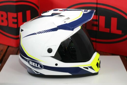 Torch White//Blue//Yellow Bell MX-9 Adventure