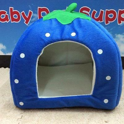 Pet Dog Cat Warm Strawberry Bed House Kennel Doggy Soft Cushion Basket 3 Size FI