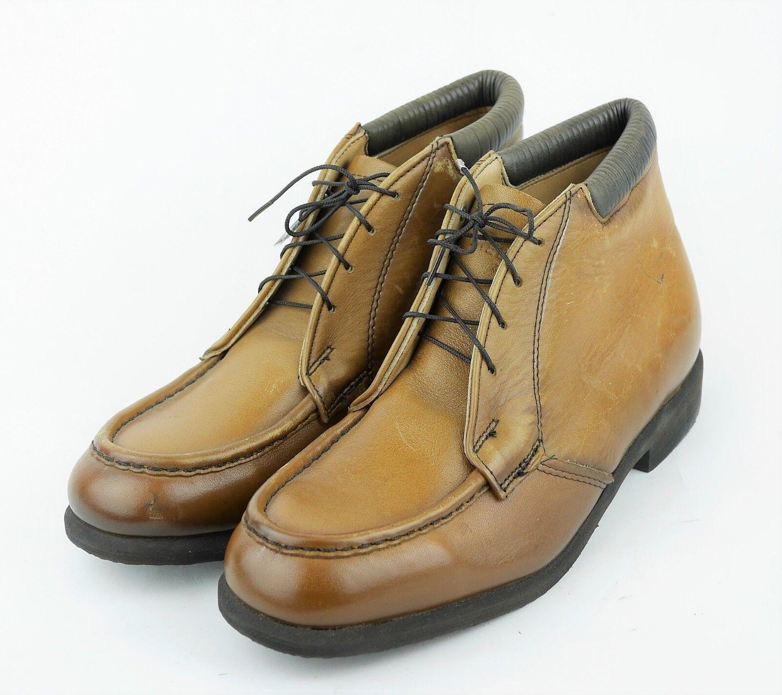 rojo WING hombre 8 Luz Caramelo Marrón Cuero Tobillo Chukka botas Zapatos-atado