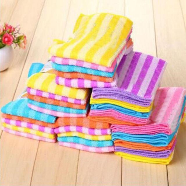 5PCS Lot Microfiber Dishcloth Square Kitchen Washing Cleaning Towel Dish Cloth