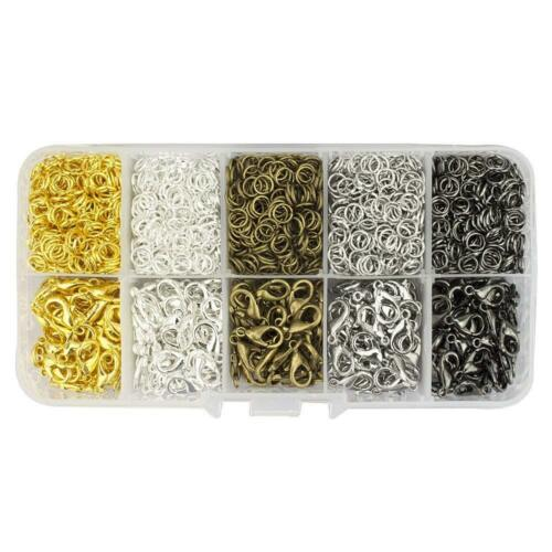 12 Mm Lobster Claw Clasps 250 Pcs And 5 Mm Open Jump Rings 2500 Tm Lollibeads