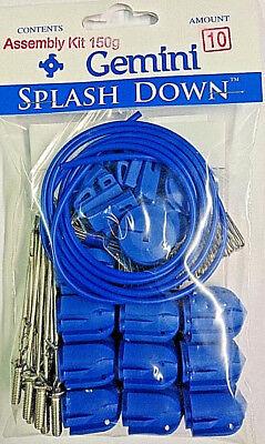 10 X Gemini splashdown weights 150gm Blue