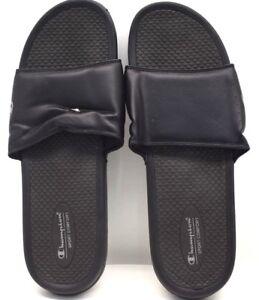 3fcd3c79399 Image is loading Champion-Slides-Sandals-Solid-Sport-Comfort-Blk-US-