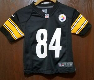 sale retailer b0c65 d292a Details about Nike Black Antonio Brown Pittsburgh Steelers #84 Football  Jersey Boy Small 4