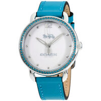 Coach Delancey 36mm White Dial Leather Women's Watch (14502884)