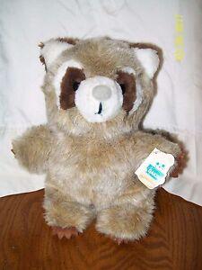 Dakin Rusty Raccoon Plush 28-0027 Bean Bags 1982