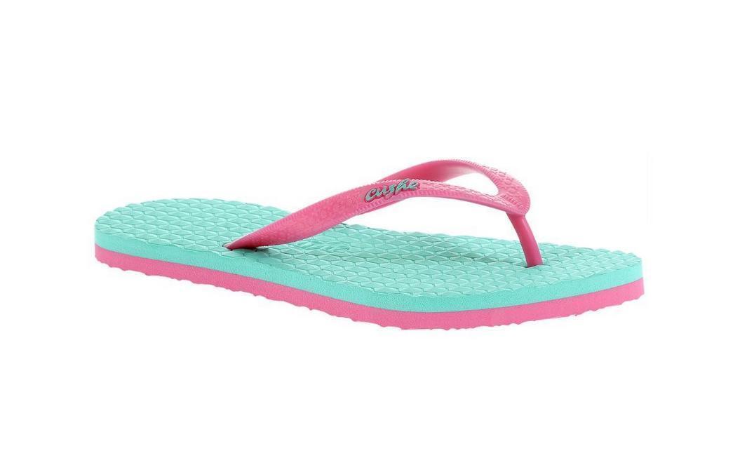 Ladies Cushe Turquoise,Pink  Summer Sandal' Flip-Flops 'Hibiscus Sandal' Summer 9787a7