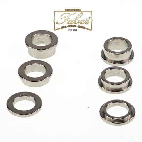 Faber SR-NG Distanzhülsen Spacer Rings fits Tone Lock Kits Nickel Gloss 3008-0