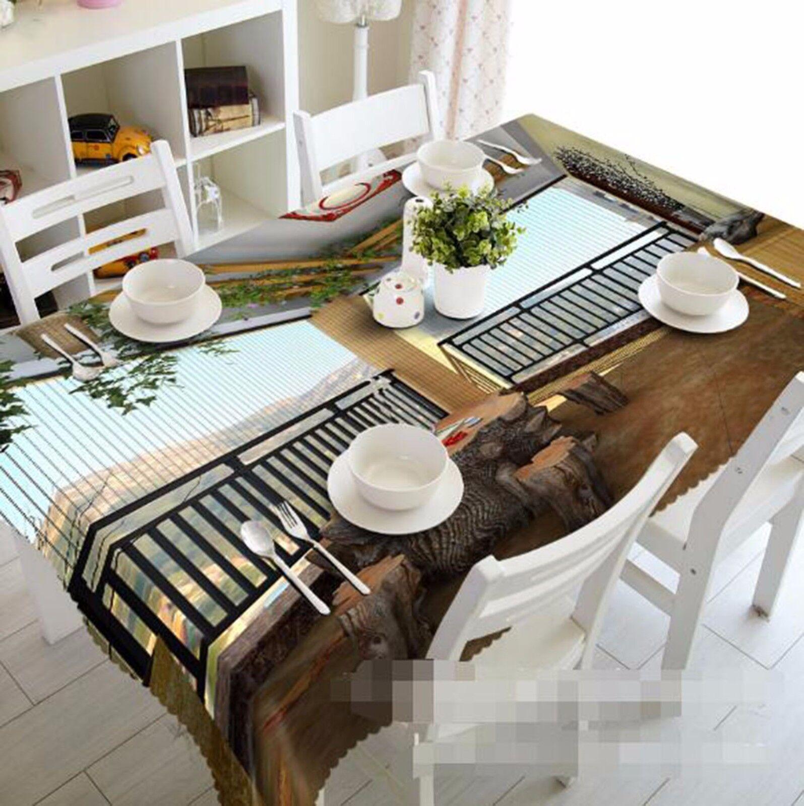 3D balcon 6 Nappe Table Cover Cloth fête d'anniversaire AJ papier peint Royaume-Uni Citron