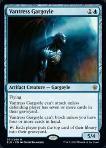MTG-x4-Vantress-Gargoyle-Throne-of-Eldraine-RARE-NM-M-Magic-the-Gathering