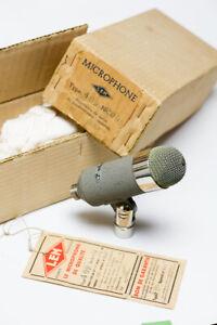 LEM-microphone-409-80-000-Ohms-Micro-Microphone-FRENCH-Original-BOX-CASE-RARE