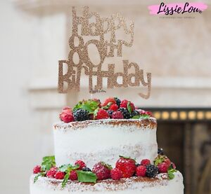 Brilliant Lissielou Happy 80Th Birthday Cake Topper Glitter Card Made In The Funny Birthday Cards Online Alyptdamsfinfo