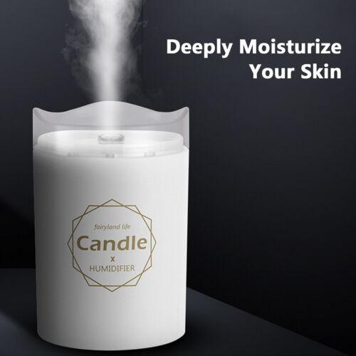 Luftbefeuchter LED Kerze Ultraschall Cool Mist Diffusor mit ätherischen Ölen