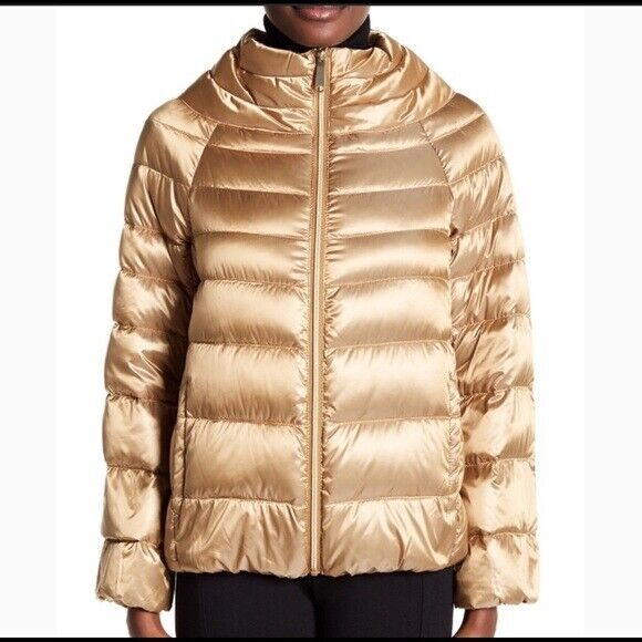 Sam Edelman Womens Gold Puffer Down Jacket Coat Size Small S M34829 For Sale Online