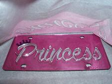 Princess/Crown Mirror Laser License Plate NEW!!