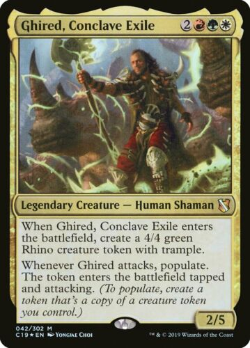 Conclave Exile Commander C19 #42 Mint MTG Magic Card Foil Mythic Ghired