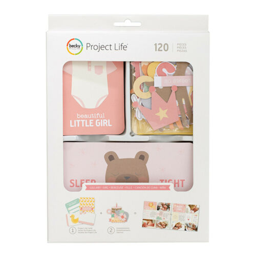 120pc Project Life LULLABY GIRL VALUE KIT 380809 BABY PINK GREEN YELLOW