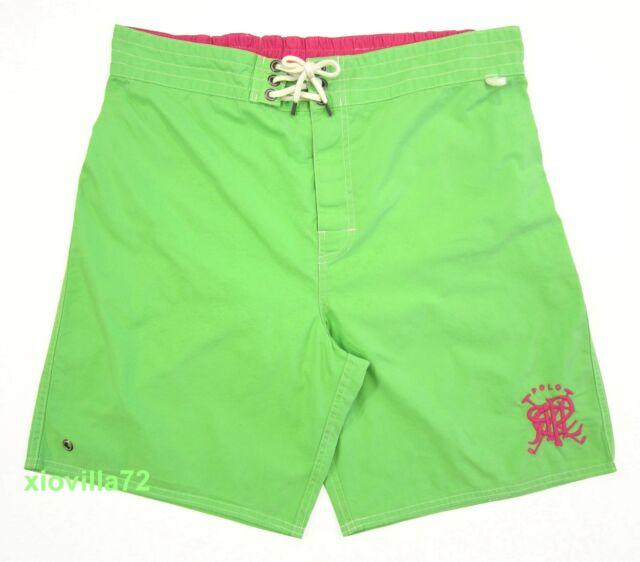 0267f7f14bcef ... low price mens polo ralph lauren sanibel crossed mallets green swim  trunks board shorts 04d17 0e393