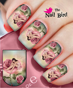 Nail wraps fantasy fairy on rose 20 full nail art water decals image is loading nail wraps fantasy fairy on rose 20 full prinsesfo Gallery