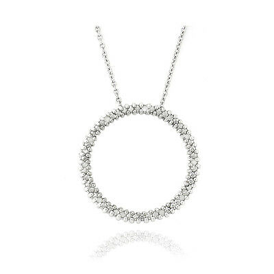 925 Silver 1/8ct Diamonds Round Eternity Necklace