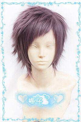 518 Nagi no Asukara Hikari Sakishima Short Purple Brown mix Cosplay Wig