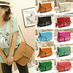 New-Fashion-Women-039-s-PU-Leather-Cross-body-Satchel-Shoulder-Messenger-Bag-Handbag