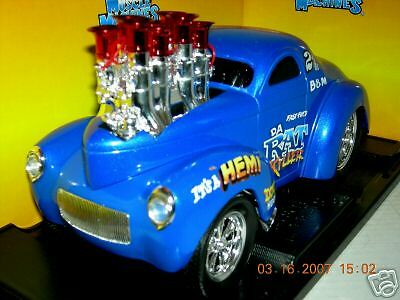 41 WILLYS COUPE DA RAT KILLER BLUE    MUS.MACH.1:18MIB