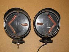 Vintage ARROW Model 8 Double Sided Hooded Signal Lights Rat Hot Rod No Reserve