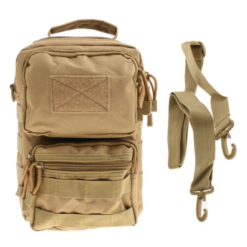 Details about  /Uomo Outdoor Tactical Military Molle Sport Maniglia a spalla singola