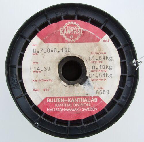 14.3Ω//m 4.36Ω//ft Flat Kanthal A Resistance Wire 5m 0.7x0.15mm Ribbon 27 AWG