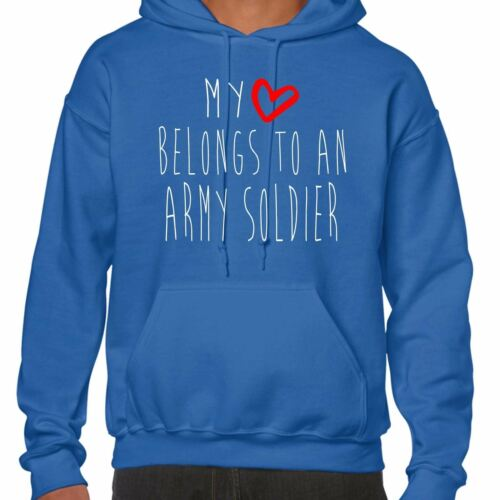 My Heart Belongs To An Army Soldier Hoodie
