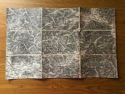 Cortona Cartina Geografica.Antica Cartina Geografica Carta Topografica Val Di Micone E Tevere