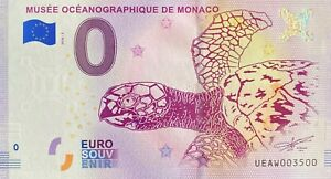 BILLET-0-EURO-MUSEE-OCEANOGRAPHIQUE-DE-NMONACO-2018-NUMERO-3500