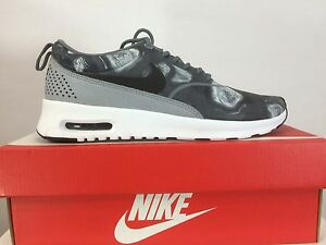 new product f2390 0357d Details about NIKE Women AIR MAX THEA Print Black White Dark Grey 599408  007 Running Shoe NEW