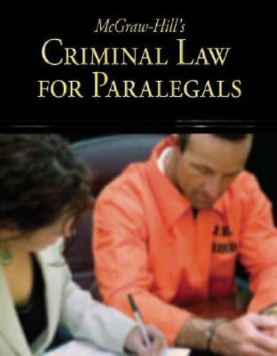 McGraw Hill S Criminal Law For Paralegals By McGraw Hill