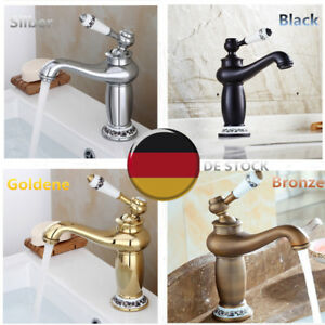 vintage bad einhebel wasserhahn k che waschbecken mischbatterie armatur de ebay. Black Bedroom Furniture Sets. Home Design Ideas