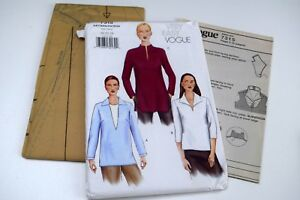Vogue-7315-Blouse-Tunic-Misses-Sz-20-22-24-Uncut-Sewing-Pattern-Very-Easy-Top
