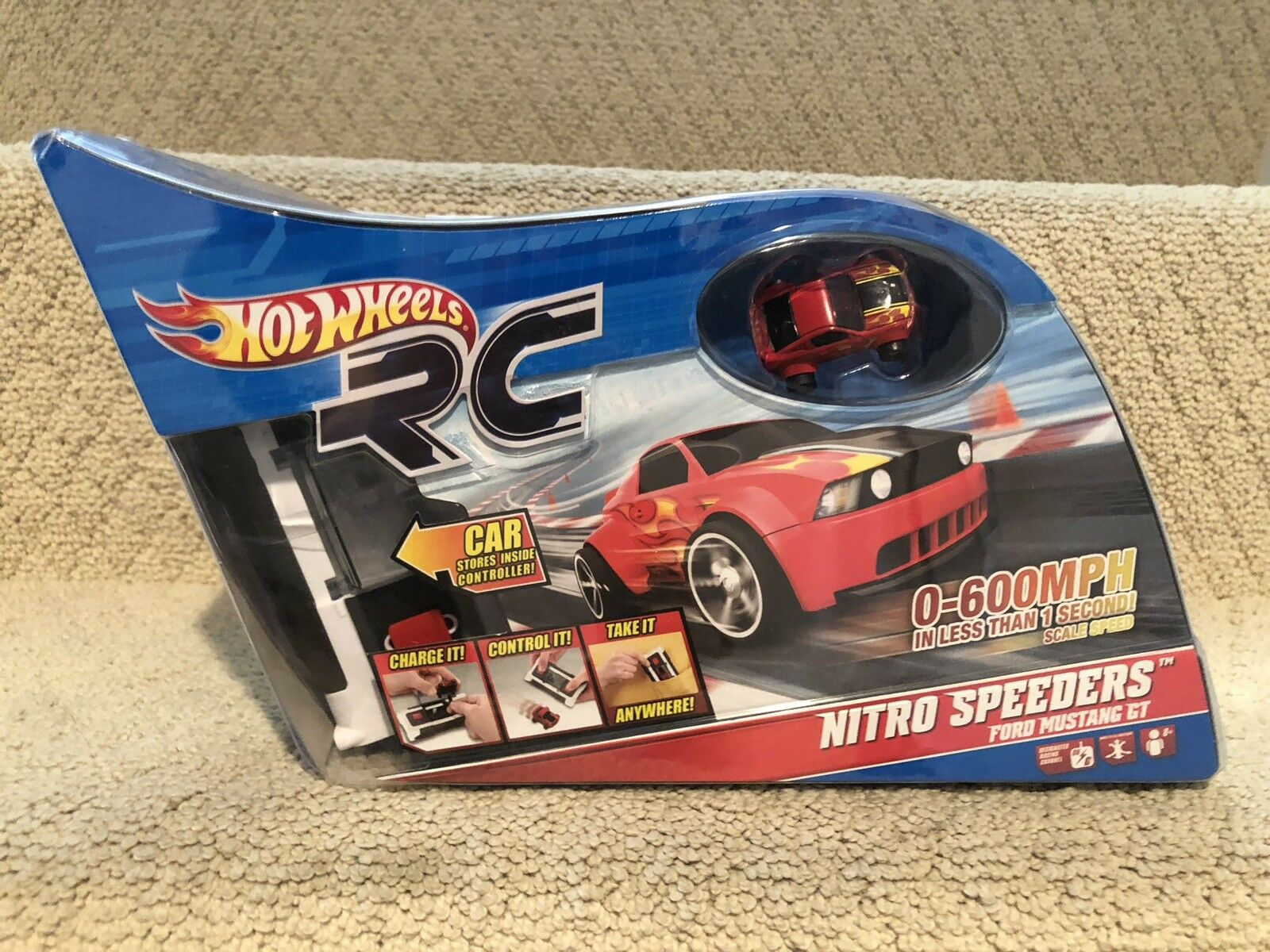Hot Wheels RC Nitro Speeders Ford Mustang GT w/ Remote & Charger - Nuovo in Box