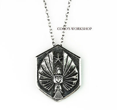 QUALITY PACIFIC RIM INSPIRED EAGLE BADGE LOGO VINTAGE PENDANT NECKLACE TAG GIFT