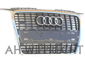 Original-Audi-S3-A3-Chrom-Grill-S-Line-Kuehlergrill-Sportback-Tuning-Single-Frame