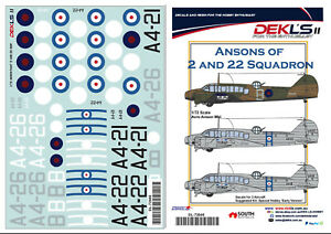 1-72-Decal-Ansons-of-2-and-22-Squadron-RAAF-DEKL-039-s-II