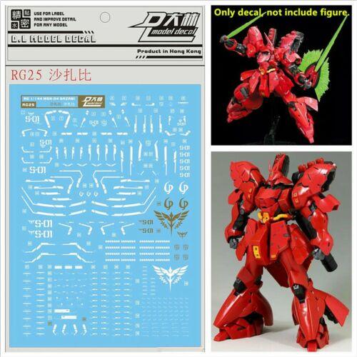 Pour Bandai RG 1//144 MSN-04 Sazabi Gundam Model WaterSlide Decal Stickers RG25