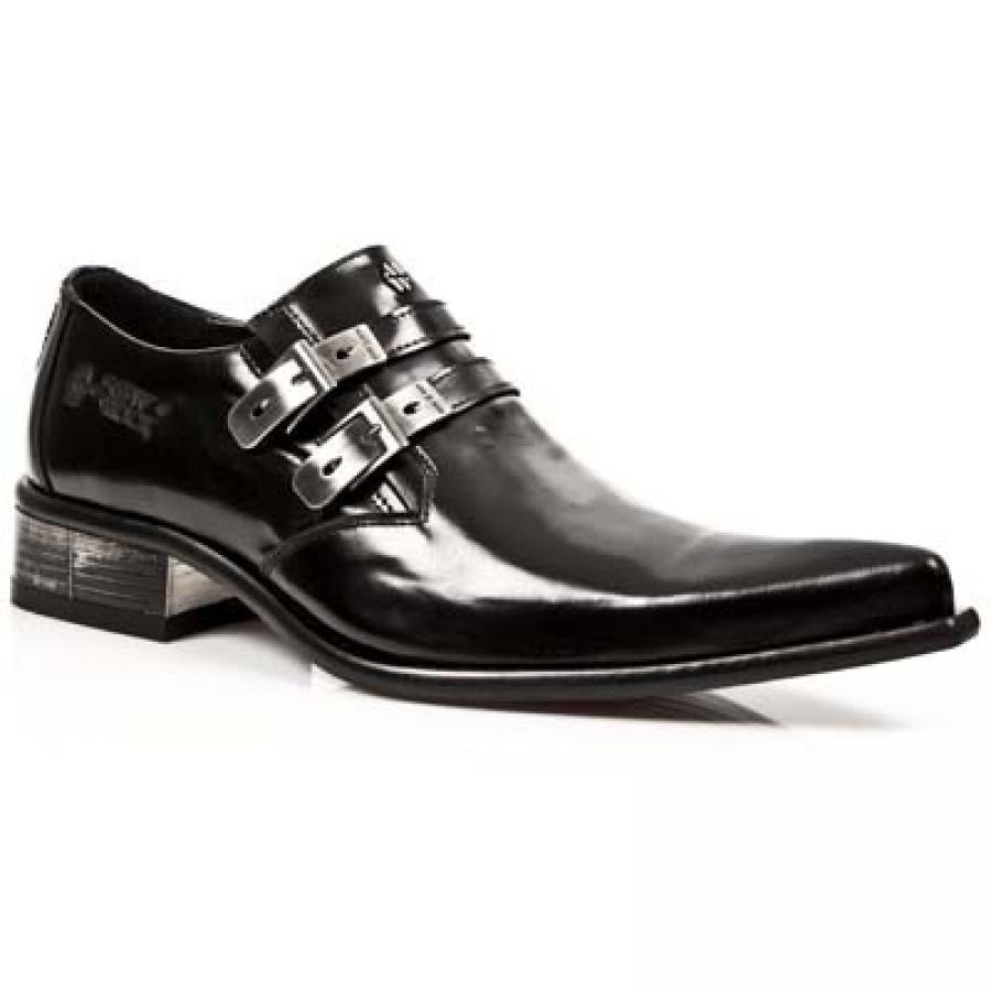 OFERTA ESPECIAL Zapato Hombre PIEL PIEL PIEL NEW ROCK Original schwarz Brillo -M.2246-S10  39f0ea