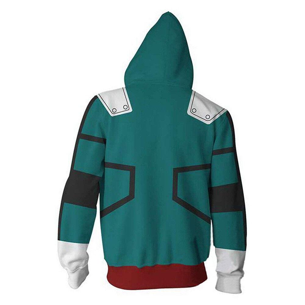 3D Hoodie Boku No Hero Academia My Hero Academia Izuku Midoriya Hoodies Cosplay Costume Training Jacket Unisex
