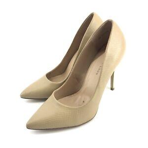 db3bfa998588 New Look Women Wide Fit Stiletto Heels Beige Pointy Toe Sz 7 40 ...