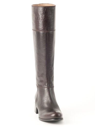 Nuevo Miu Miu Miu Miu By Prada Chocolate Cuero botas Talla 37 EE. UU. 7 c62bd6