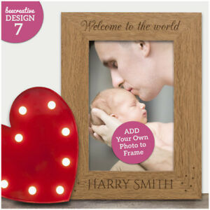 Welcome-To-The-World-Personalised-Newborn-Baby-Photo-Frame-Keepsake-Baby-Gift