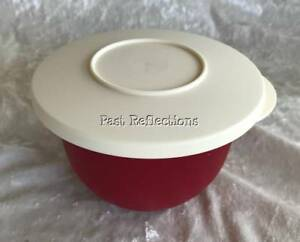 tupperware alfresco impressions 550ml bowl ruby red ivory ebay ebay