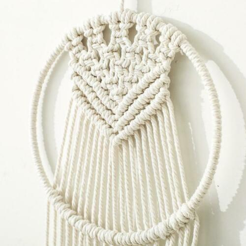 Style 4 Details about  /White Macrame Dreamcatcher